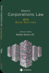 Woon's Corporations Law, 2019 Desk Edition [eBook] cover