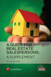 A Guide for Real Estate Salespersons - A Supplement cover