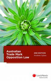 Australian Trade Mark Opposition Law, 2nd edition cover