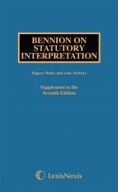 Bennion on Statutory Interpretation Seventh edition Supplement cover