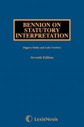 Bennion on Statutory Interpretation, 7th Edition and Supplement Set cover