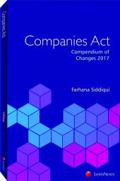 Companies Act - Compendium of Changes 2017 / 2018 [Soft Cover] cover