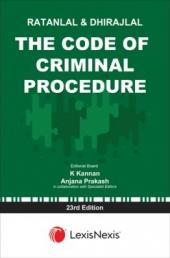 Ratanlal and Dhirajlal's The Code of Criminal Procedure 23rd Edition (Paperback) cover